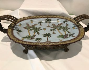 Tropical Blue Serving Tray