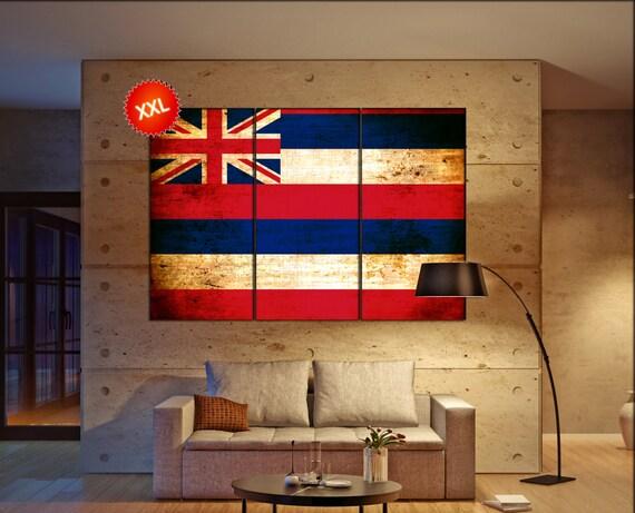 Hawaii state flag  canvas Hawaii state flag  wall decoration Hawaii state flag  canvas art Hawaii state flag  large canvas