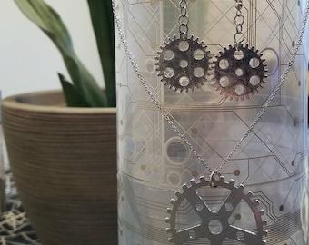 Steampunk Gear Earrings/Necklace