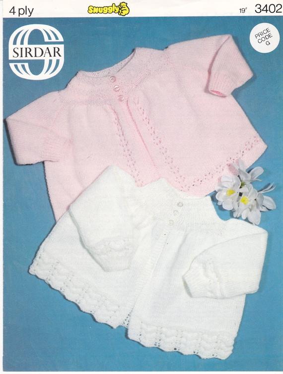 7b5ec139a ON SALE Sirdar Set of 3 Baby Patterns 3382