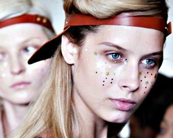 Glitter Eye Makeup, Galaxy Makeup, Star Freckles, Cosmic Cosmetics, Shimmery, Glittery, Festival, Sci Fi, Aura Makeup, Aura Beauty