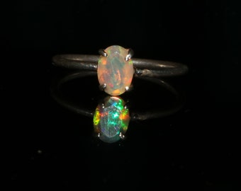 Ethiopian Opal Ring - Opal Faceted Cut Ring - Natural Opal Ring - White Opal Ring - Opal Gemstone Cut Ring - Size US 3 to 14 OPAL VIDEO