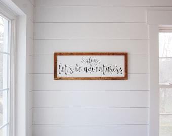 "Darling, Let's be Adventurers 13"" x 36"""