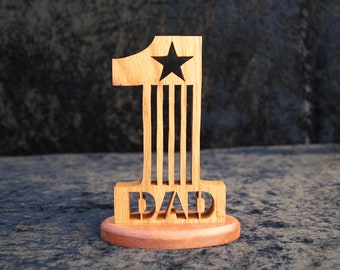 Number one Dad, Fathers Day , Dad Plaque with star cutout