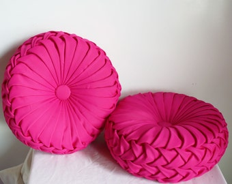 Vintage Inspired Handmade Decorative Pleated Pillow Set