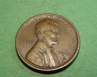 1911-S  Lincoln Wheat  Cent Fine - Semi Key Date  <>ET0033