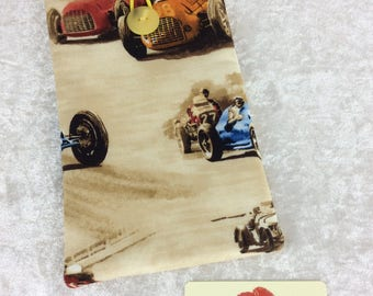 Racing Cars Mobile Cell Phone Glasses Case Cover Pouch Vintage Classic Cruisers
