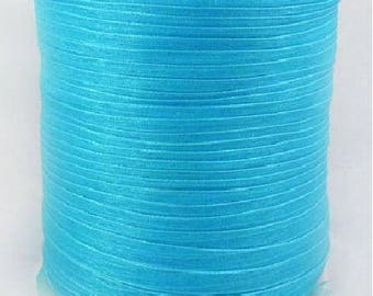 Turquoise 6 mm wide organza Ribbon