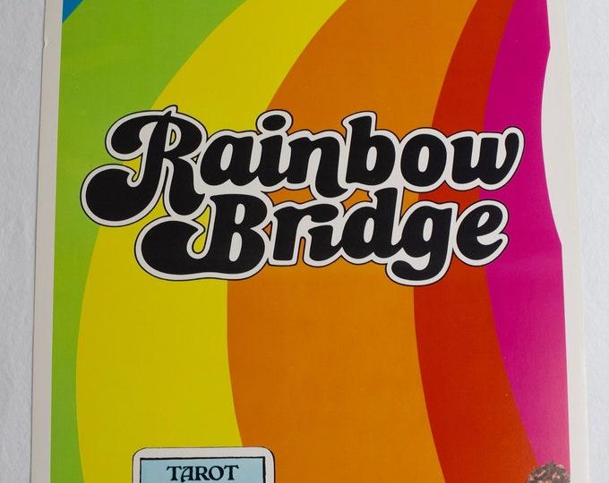 Vintage 1972 JIMI HENDRIX Rainbow Bridge Insert Movie Poster 14x36 Surfer Print - Very Rare