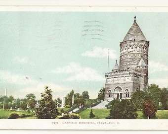 Early 1900s WB White Border Postcard- View of Garfield Memorial, Cleveland,  Cuyahoga County, Ohio, OH. ~ Free Shipping