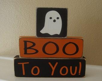 Halloween Wood Block Stacker, BOO To You!,