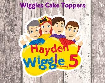 Wiggles cake topper   Etsy