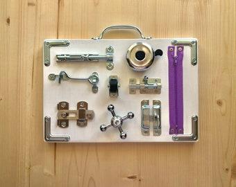 Busyboard mini    Sensory baby board   toddler busy board