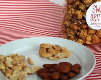 Homemade Caramel Nut Popcorn