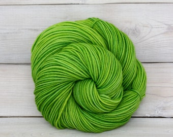 Calypso - Hand Dyed Superwash Merino Wool DK Light Worsted Yarn - Colorway: Katydid