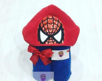 Spider Superhero hooded towel