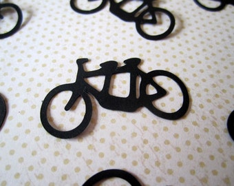 Tandem Bicycle Confetti, Wedding Confetti, Die Cut Confetti, Bike For Two Confetti, 100 Piece Table Sprinkles Party Decor, Color Options