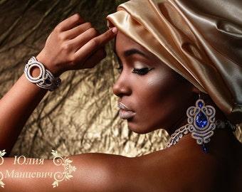 Soutache, necklace, bracelet and se'g