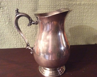 Vintage Wm Rogers Silver Plate Water Pitcher