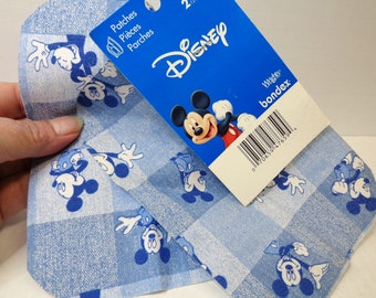 Disney Patches Vintage Iron On Mickey Mouse Patch Wrights Bondex 5X7 Sewing Craft Repair Durable Collage Patch Disney Fabric Patch
