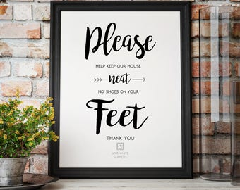 Remove Your Shoes Sign - Please Help Keep Our House Neat - Home Sign Digital Download - Shoe-Free Home Sign - No Shoes in the Home
