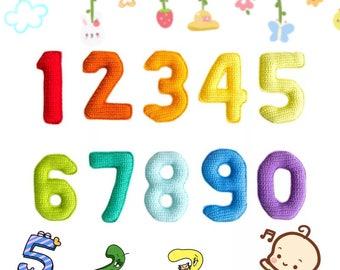 0-9 Numbers Crochet Pattern, Crochet Numbers Pattern, Knitting 0-9 Amigurumi Pattern, Children's Early Childhood Numbers Toy Pattern