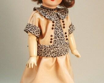 Bleuette pattern for doll clothing - Robe de Toile Unie et Fleuri 1925 La Semaine de Suzette