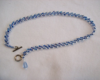 Baroness Pale Blue Ankle Bracelet with Dangle