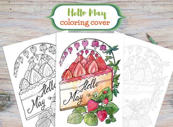 Dürfen Hallo Mai Färbung Deckblatt druckbare Mai-Abdeckung