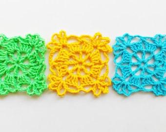 crochet pattern applique motif / crochet doily / easy crochet pattern /