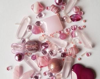 Pink Czech Glass Bead Mix
