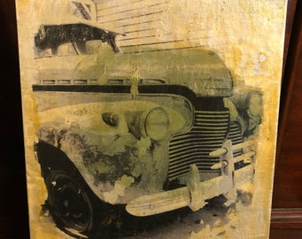 """Mixed Media Collage """"1941 Chevy"""""""