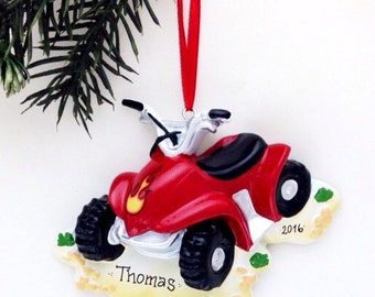 4 Wheeler Personalized Christmas Ornament / ATV Ornament / Personalized Name or Message