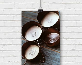 copper cups - rustic kitchen photography