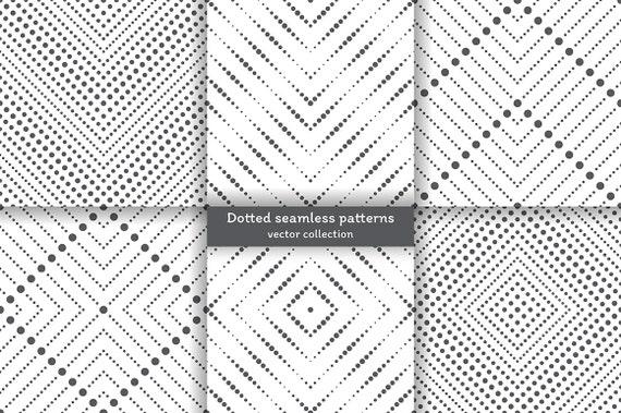 Conjunto de 6 patrones transparente de vector. Papel digital. Libro ...