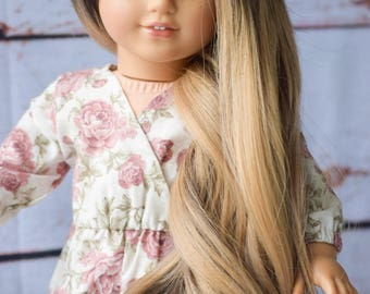 "Custom 18"" Doll Wig 10-11"" circumference Ombre Heat Safe for American Girl Doll, OG, Journey Girls"
