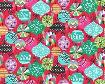 Baubles from the Cool Yule Collection designed by Josephine Kimberling for Blend Fabrics, Holiday, Christmas