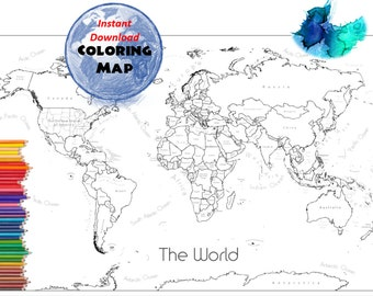 Countries of the world map ks2 best of printable world maps world world map coloring page labeled world map a4 and 85x11 inch coloring book countries outline map gumiabroncs Gallery