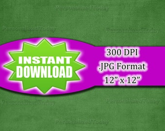Dark Green Fabric Digital Scrapbooking Paper, Craft Supply, 300 DPI, JPG File Format, 12x12, High Resolution, INSTANT Digital Download, 443