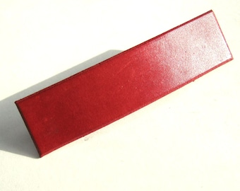 Red Barrette Leather Barrette Red Leather Hair Clip