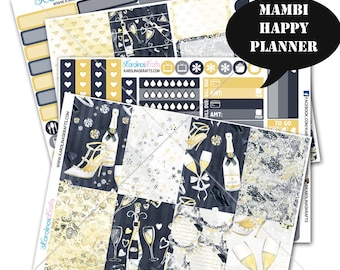 Celebration Stickers Planner Kit 200+ Happy Planner Sticker, Mambi Planner Sticker kit, Weekly Planner Kit, New Years #SQ00320-MHP