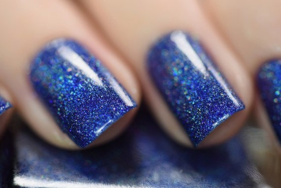 Honor Roll Navy Blue Holographic Nail Polish
