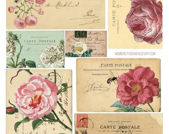 Rose Collage 3 - Ceramic Waterslide Decal - Enamel Decal - Fusible Decal - 46121