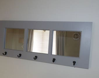 Mirror Coat Hook Rack