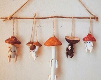Set of FIVE Handmade OOAK Mushroom Littles. You Choose Which!