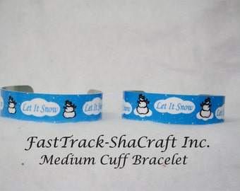 Custom Printed Cuff Bracelet with Special Message or Occassion