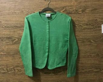 Sale... Vintage Norma Kamali sweatshirt/Full button/Rare Design/Nice Design/Size Large
