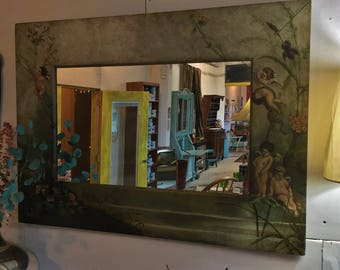 Fab Mirror with Hand Painted Frame!