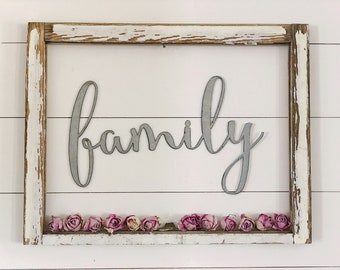 family Sign || Metal Sign || Home Decor || gallery wall || Rusty || Galvanized || Black
