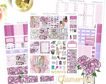 Glamorous - Printable Planner Stickers - Instant Download
